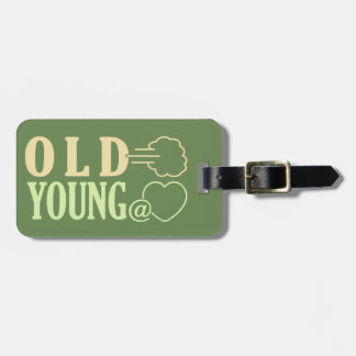 Old Fart custom luggage tag