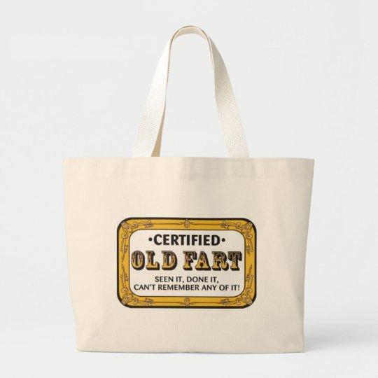 Old Fart Large Tote Bag