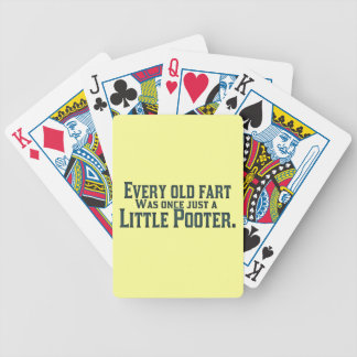Old Fart - Little Pooter Bicycle Playing Cards