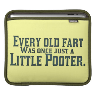 Old Fart - Little Pooter iPad Sleeve