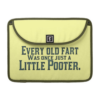 Old Fart - Little Pooter Sleeves For MacBook Pro