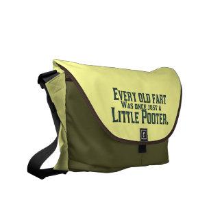 Old Fart - Little Pooter Messenger Bags
