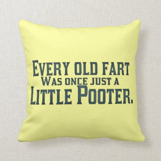 Old Fart - Little Pooter Throw Pillow