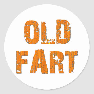Old Fart Classic Round Sticker