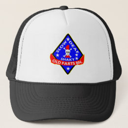 Old Farts Battalion Slow Shaky Deaf Trucker Hat