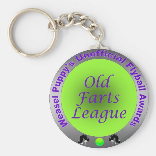 Old Farts League Flyball Award Keychain