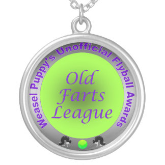 Old Farts League Round Pendant Necklace