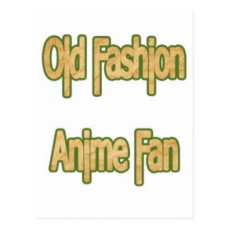 Old Fashion Anime Fan Postcard