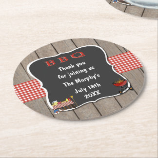 Old Fashion Barbecue Drink Coasters