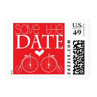 Old Fashion Bicycles Save the Date Postage Stamp