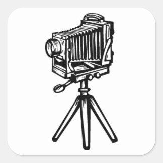 Old Fashion Camera Square Sticker
