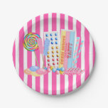 Old Fashion Candy paper Plate 7 Inch Paper Plate