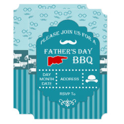 Old Fashion Celebration Father's Day Party Invites