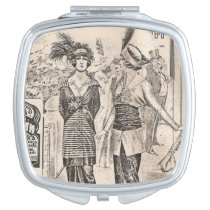 old fashion compact mirror