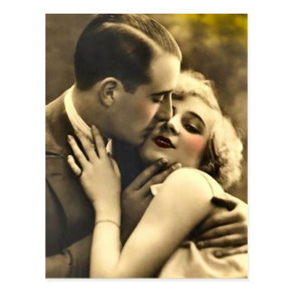 Old Fashion Couple Postcard