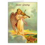 Old Fashion Easter Angel Greeting Card