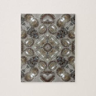old fashion glamour rhinestone pearl art deco jigsaw puzzle