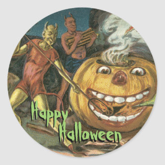 Old Fashion Halloween Stickers - Devils