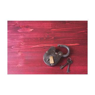 Old Fashion Lock and Keys Canvas Print