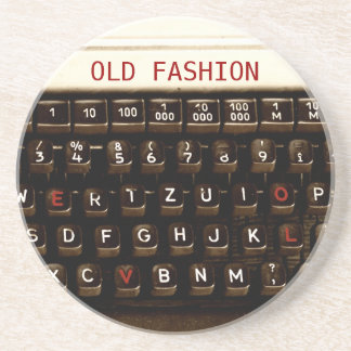 Old Fashion Love - Typewriter Machine Coaster