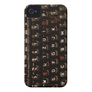 Old Fashion Love - Typewriter Machine iPhone 4 Case