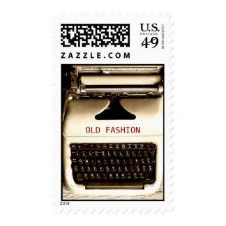 Old Fashion Love - Typewriter Machine Postage