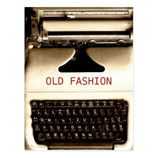 Old Fashion Love - Typewriter Machine Post Card