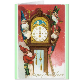 Old Fashion New Years Card Vintage Design