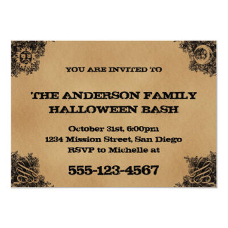 Old Fashion Ouija Board Inspired Halloween Party Card
