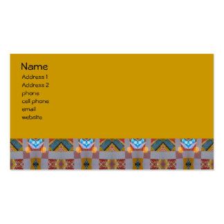 old fashion patchwork business card templates
