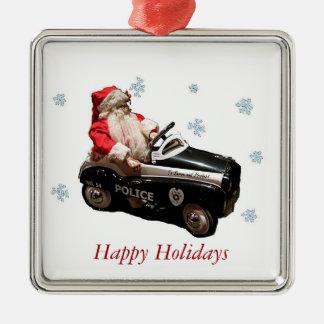 Old Fashion Police Santa 2 Ornament