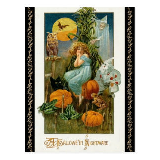 Old Fashion Pumpkin Patch, Halloween Postcard