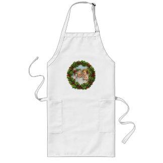 Old Fashion Santa Apron for Christmas Dinner