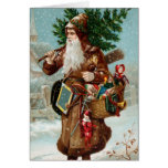 Old Fashion Santa Christmas Card