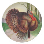 Old Fashion Turkey for Thanksgiving Dinner Plate