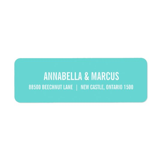 Old Fashion Typography Address Label- Tiffany Blue Label