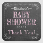 Old Fashion Typography Baby Shower Square Sticker