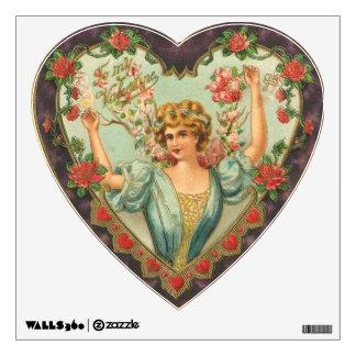 Old Fashion Valentine Heart Room Stickers