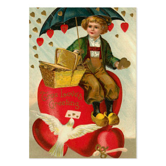 Old Fashion Valentine Love Notes Large Business Card