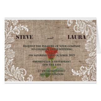 Old fashion Wedding Invitation Greeting Card