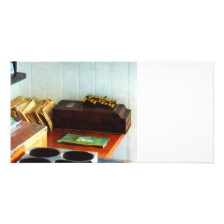 Old Fashioned Adding Machine Photo Card Template
