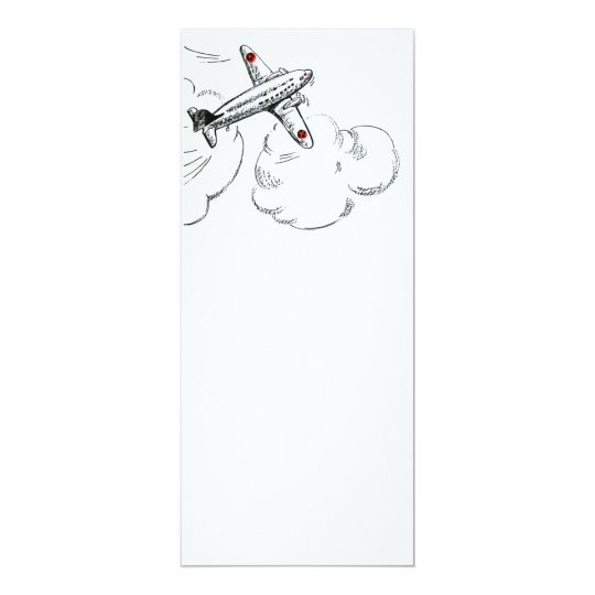 Old Fashioned Airplane Drawing Card