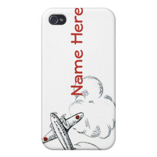 Old Fashioned Airplane Drawing iPhone 4/4S Cases