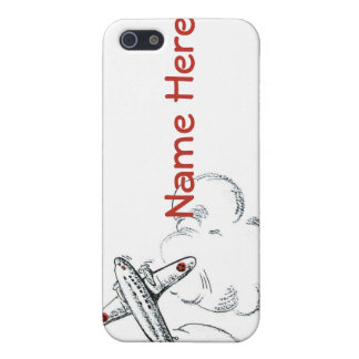 Old Fashioned Airplane Drawing iPhone SE/5/5s Case