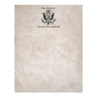 Old Fashioned American Coat of Arms Letterhead