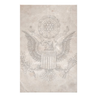 Old Fashioned American Coat of Arms Stationery