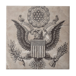 Old Fashioned American Coat of Arms Tile