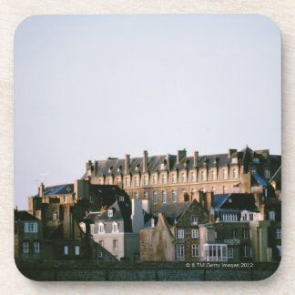 Old-fashioned architecture in Brittany Coaster
