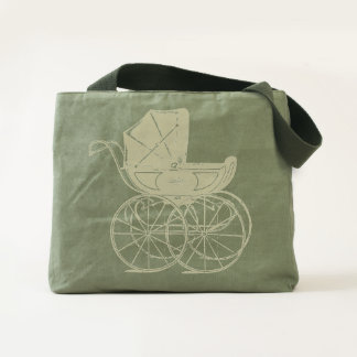 Old Fashioned Baby Carriage Tote