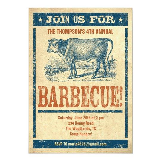 Old Fashioned Barbecue Invitations